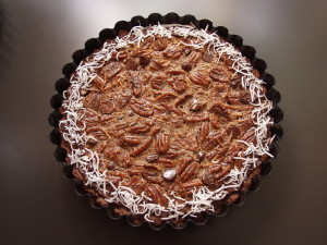 Pecan pie--this one's too nice to be mine!