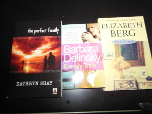 More from my shelves: authors Kathryn Shay, Barbara Delinsky and Elizabeth Berg.