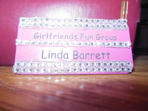 My nametag is now officially blinged.