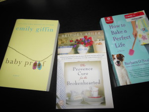 From my own book shelves, authors Emily Giffin, Bridget Asher, Barbara O'Neal